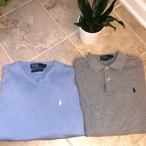 RALPH LAUREN Men's sweater and long sleeve polo